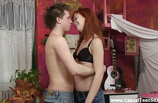 Finest fucky-fucky with redhead teeny