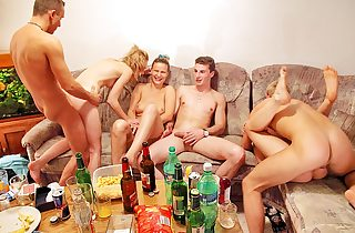 Xxx group fucking at wild sex party