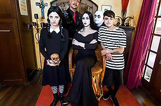 Addams Behind the scenes Orgy
